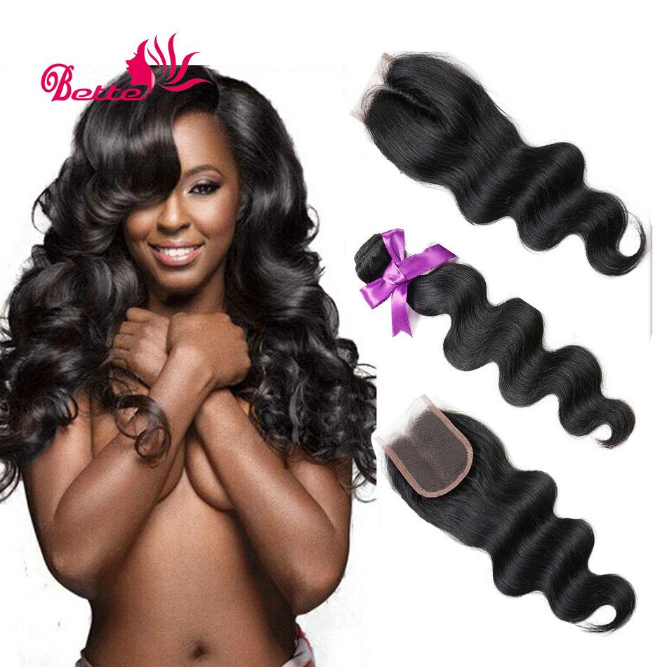 Malaysian Body Wave With Closure Human Hair With Lace Closure Malaysian Virgin Hair With Closure 3 Bubndles Maylasian Body Wave