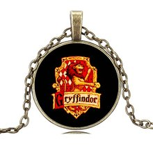 Vintage Sterling Silver Jewelry Newest Harry Potter Statement Necklace&Pendants for Women Glass Cabochon Collares 2015