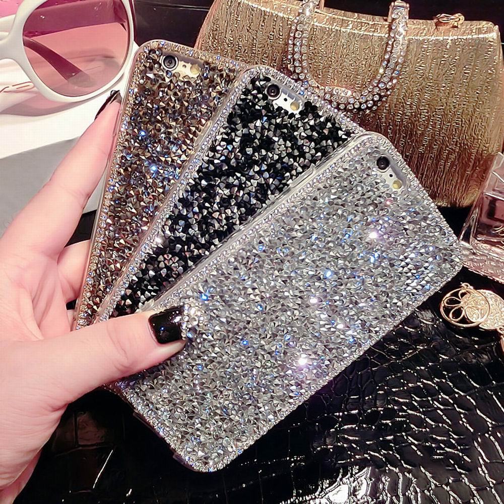 New Style Fashion Luxury Crystal Bling Rhinestone Hard cover pretty phone case for iphone 5 5S 6 6S 6Plus 6SPlus YC1328(China (Mainland))