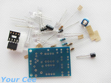 Blue Led 5MM Light LM358 Breathing Lamp Parts Kit Electronics DIY Interesting Product Suite(China (Mainland))