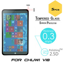 5pcs/lot Hot Sale 9H Arc 0.3mm 2.5D Explosion-Proof Tempered Glass Film For Chuwi VI8 8″ Tablet PC Screen Protector Cover Guard