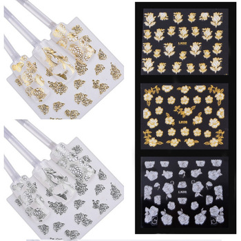 Free shipping, Gel nai art 3D flower designs stickers decals nail tip DIY decoration, manicure tools