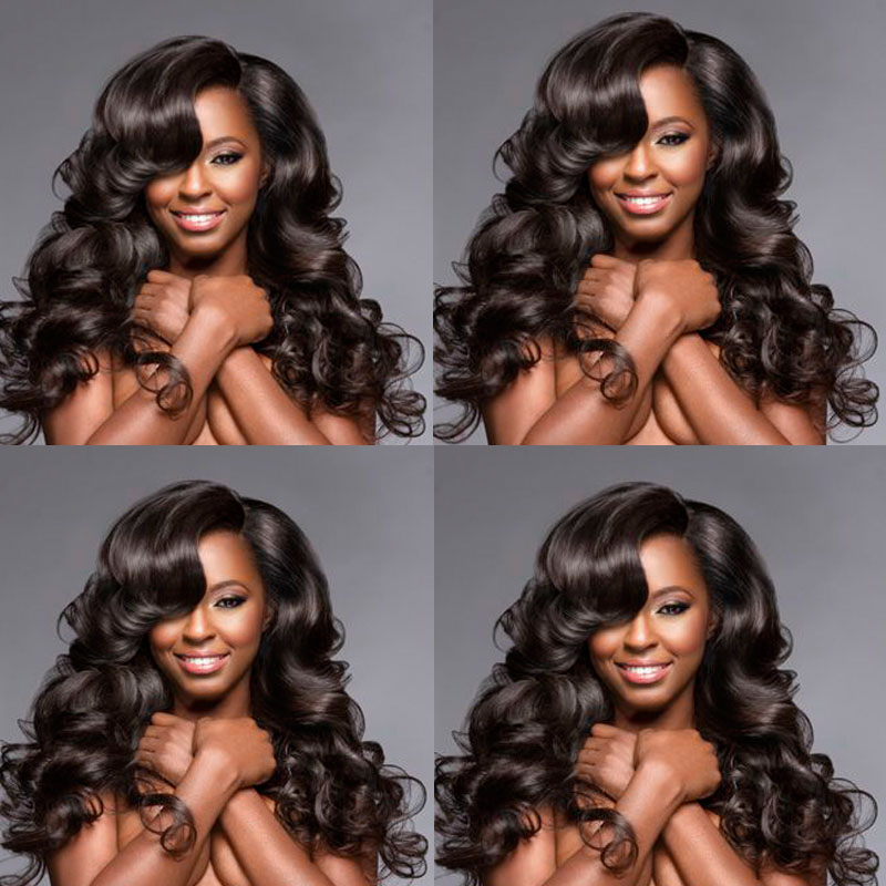 Gluna Hair Brazilian Hair Weave Bundles Remy Human Hair Weave Premium Too Brazilian Body Wave 3 Bundles Brazilian Virgin Hair(China (Mainland))
