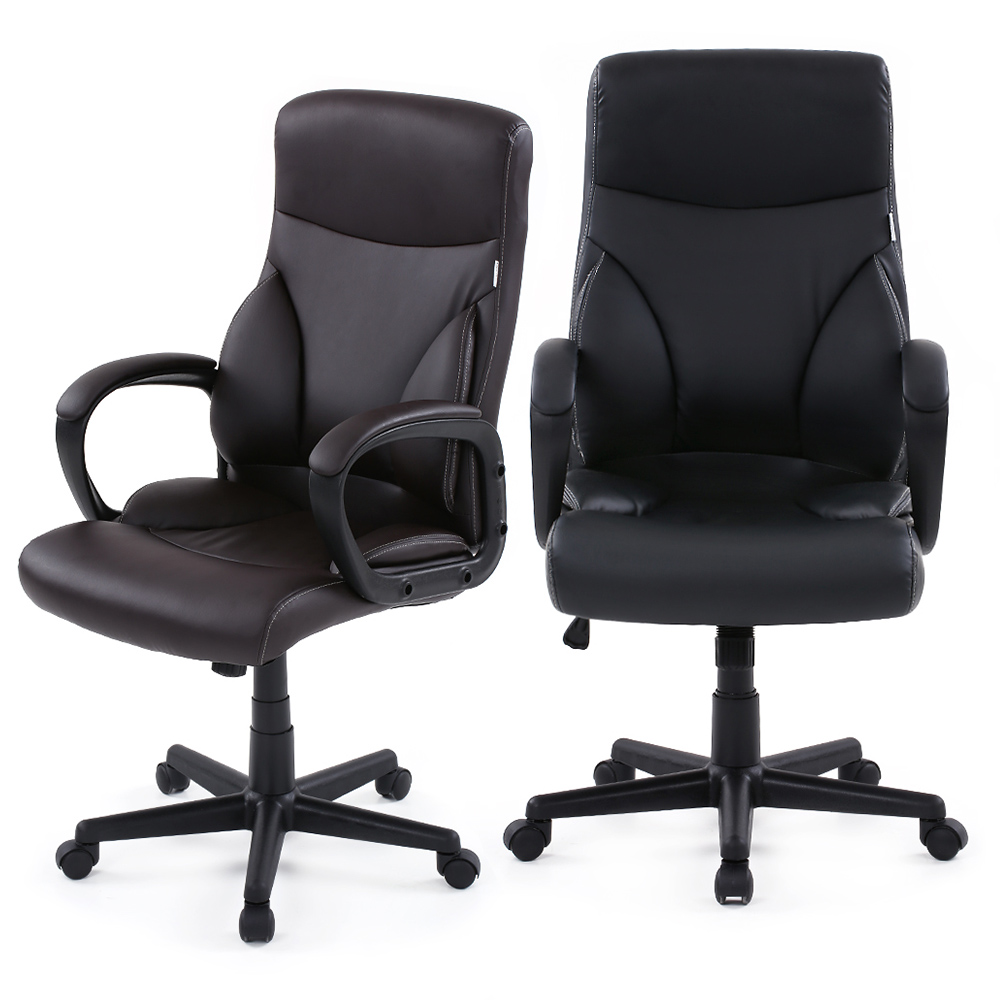 Brand IKAYAA Faux Leather Swivel Office Chair Stool High Back Computer Task Office Furniture+SGS Intertek Testing US Stock(China (Mainland))