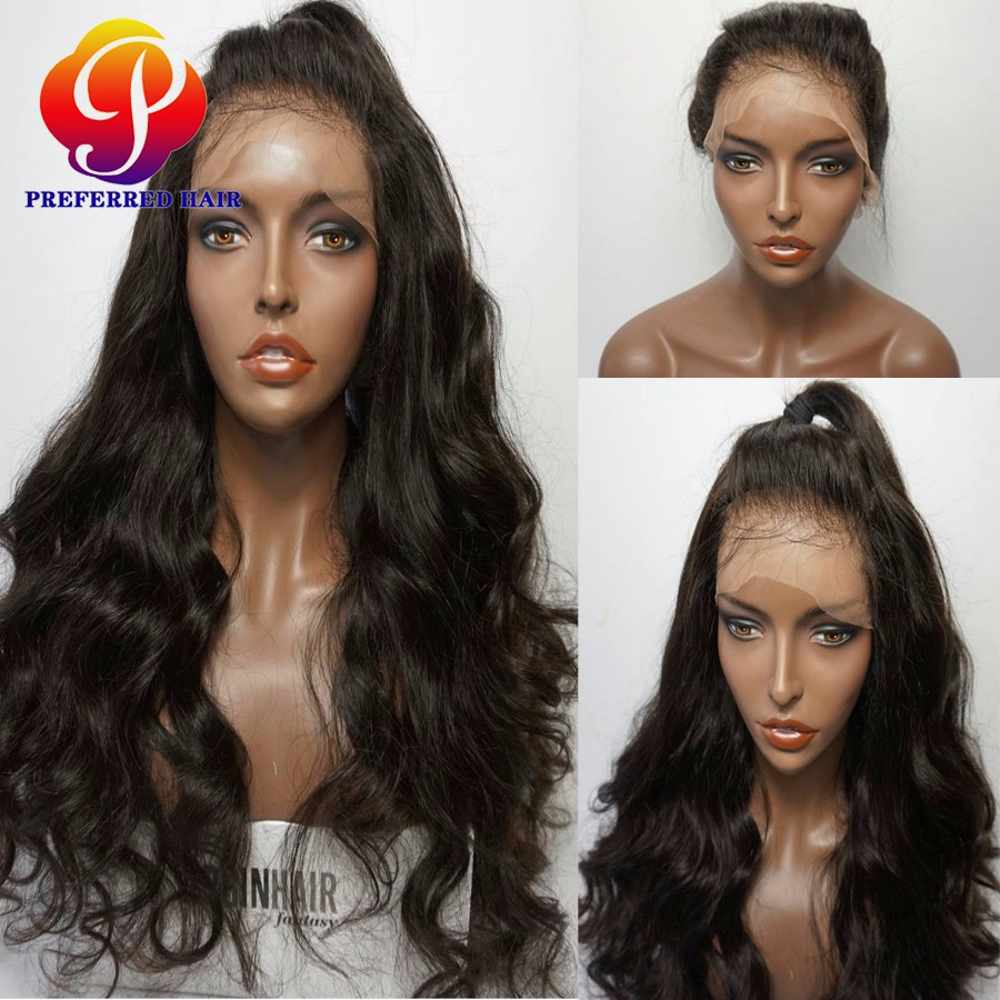 Brazilian Full Lace Human Hair Wigs Virgin Human Body Wave Hair Lace Front Wigs For Black Women Long Wet And Wavy Lace Front Wig