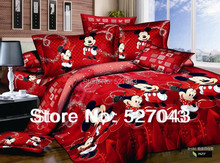 Mickey and Minnie Mouse  King/FUll/Queen Size Bedding sets/Bedclothes/Sheet set/Duvet covers/Quilt Cover,3HKY-HX(China (Mainland))