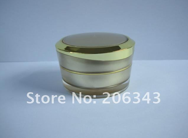 50G gold Acrylid cream bottle,cosmetic container,,cream jar,Cosmetic Jar,Cosmetic Packaging<br><br>Aliexpress
