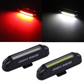 Topsale Basecamp Waterproof USB Rechargeable Bicycle Head Light High Brightness Red LED 100 lumen Front Rear