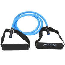 Buy JHO-Natural Rubber Latex Fitness Resistance Tube Resistance Rope Elastic Exercise Band Yoga Pilates Workout (Blue, 25lb) for $5.57 in AliExpress store