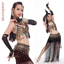 Tribal belly dance costume 2015 Rushed New Arrival Freeshipping Women Polyester bellydance Belt Tribal with Bra belly dancing