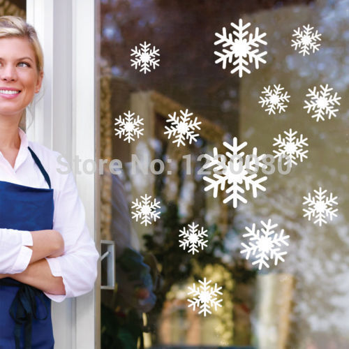 2014 Snowflakes removable wall window vinyl decal sticker holiday Christmas(China (Mainland))