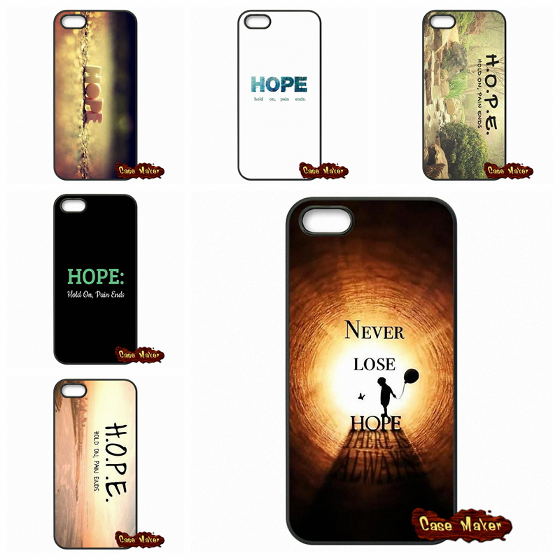 For Blackberry Z10 Q10 HTC Desire 816 820 One X S M7 M8 Mini M9 A9 Plus Hold On Pain Ends H.O.P.E Phone Case Cover(China (Mainland))