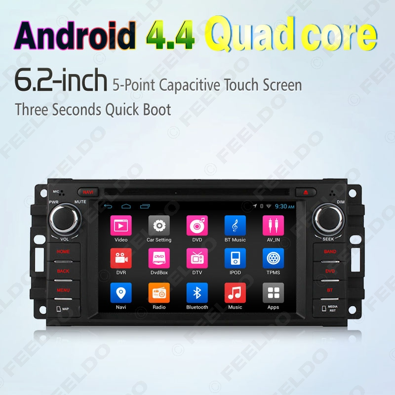 "6.2"" Android 4.4.4 Quad Core Car DVD GPS Radio For Jeep Liberty/Patriot/Grand Chrokee/Wrangler #J-2421(China (Mainland))"