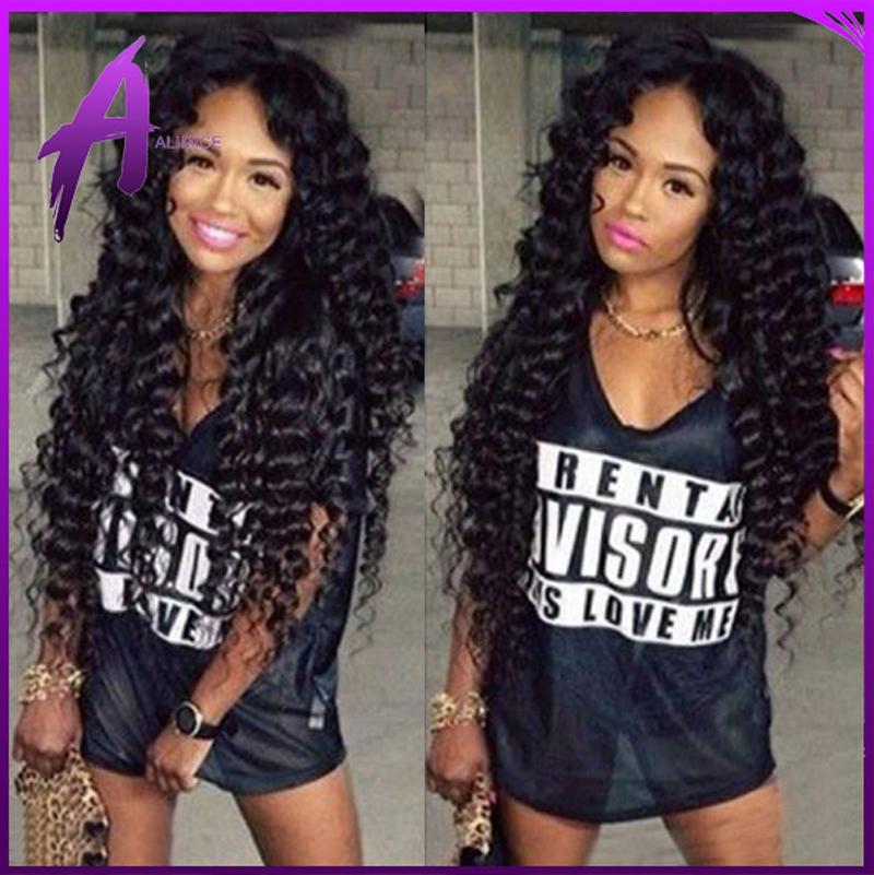 Peruvian Deep Curly Hair With Closure 4 Bundles With Closure Peruvian Virgin Hair With Closure Peruvian Deep Wave With Closure