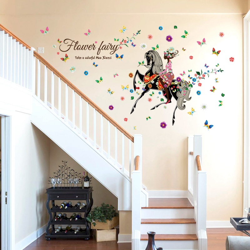 cartoon diy flower fairy removable wall stickers home new cartoon underwater world wall stickers for kids baby