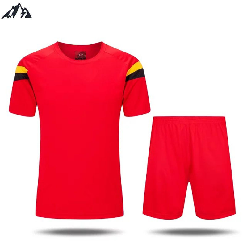 2016 New Men Soccer Jersey Breathable Short Sleeve Plaid Football Jersey Men Quick Dry Football tracksuit(China (Mainland))