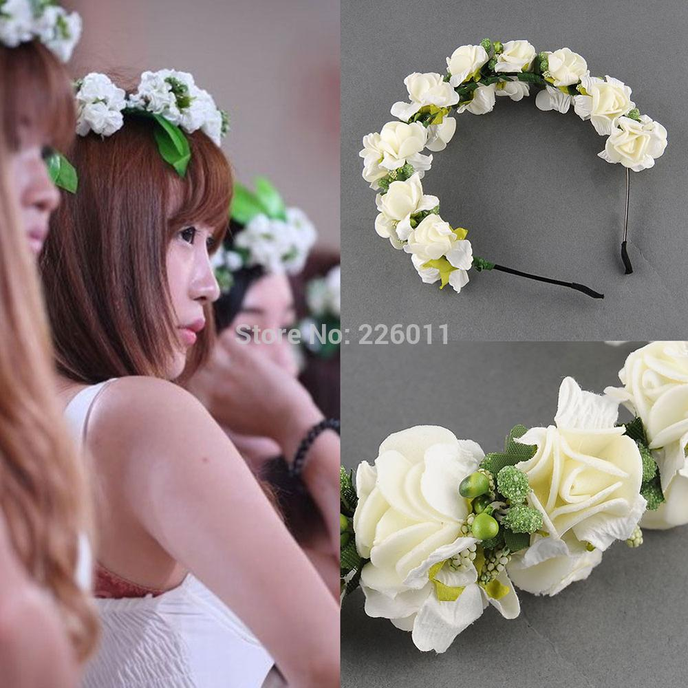 Flower Bridal Headband Hairband Wedding Prom Hair Accessories Garland Floral(China (Mainland))