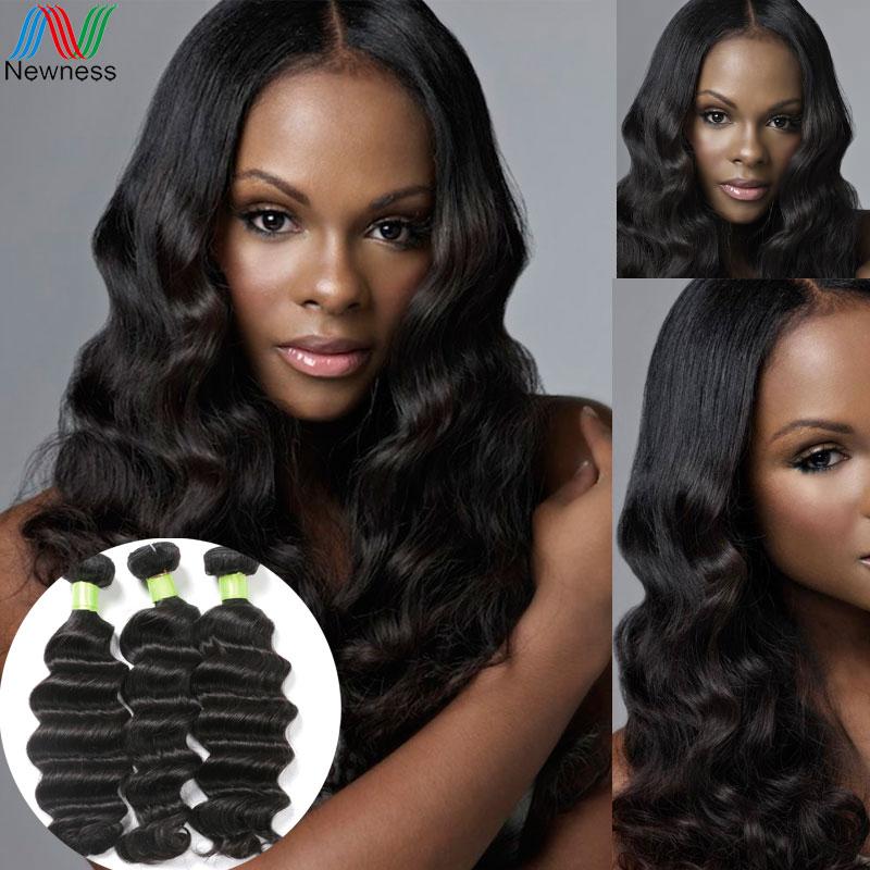 Newness Factory Supplier 7A Grade Brazilian RIO Loose Wave Virgin Hair 3Bundles 100% Unprocessed Cheap Human Hair Weaves Product(China (Mainland))