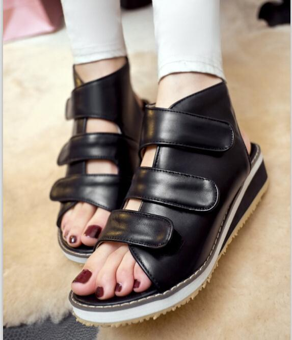 ENMAYER summer Platform Sandals new casual punk open-toe women sandals low heels women sandal breathable comfort shoes sandals