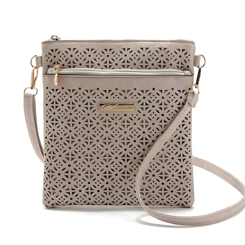 2016 Small Casual women messenger bags PU hollow out crossbody bags ladies shoulder purse and handbags bolsas feminina(China (Mainland))
