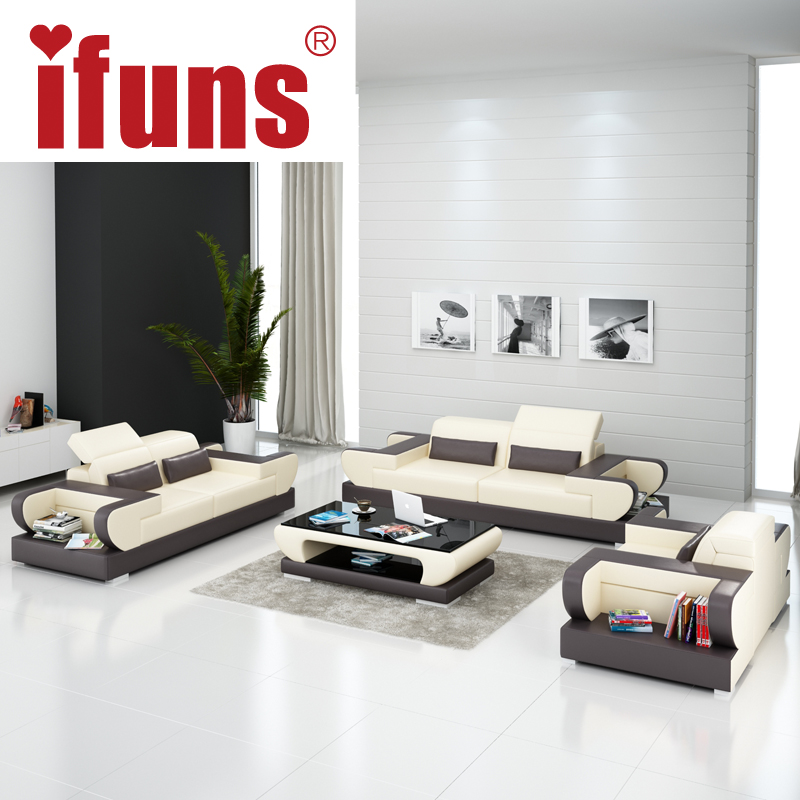 IFUNS modern design genuine leather sectional sofa,sofa set living room furniture(China (Mainland))