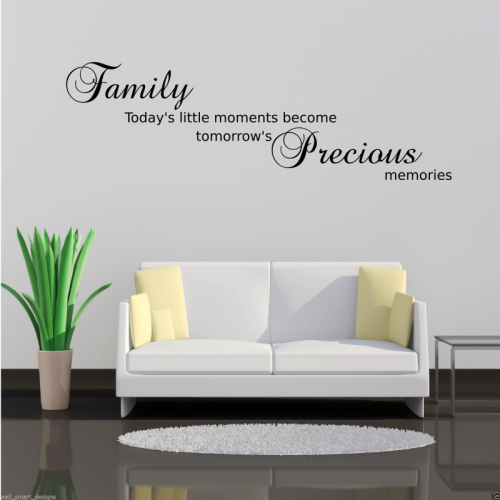English Quote Wall Decals Removable Waterproof Home Decor