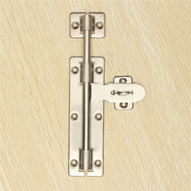 Excellent Quality 8 Inches Stainless steel Door Bolt Lock Latch Slide Barrel Bolt Clasp Long For Locking Door(China (Mainland))