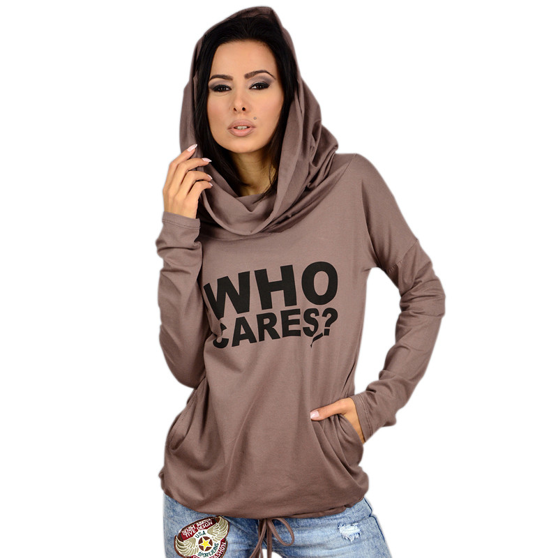 2016 Women Hoody Spring Autumn Female Long Sleeve Thin Casual Sweatshirts Women Letter Print Hoodies Moleton Feminine Plus Size(China (Mainland))