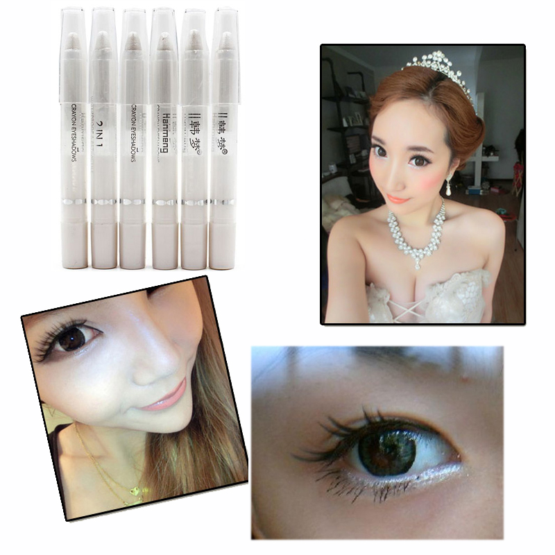 New Fashion Women Eye Liner Makeup Waterproof Natural Cosmetic Eyeliner Band Shimmer White Eyeliner Pencil(China (Mainland))