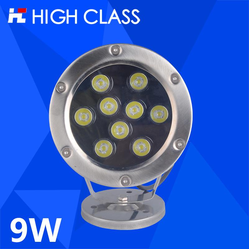 High Class Waterproof IP68 AC12V/24V 9W LED Underwater Spot Light Water Landscape Lamp Fountain Fish Pool Aquarium Lighting от Aliexpress INT