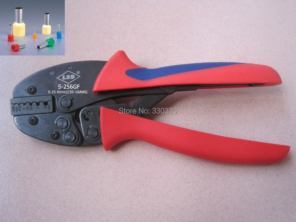 buy ratchet crimping tool for cable ferrules 6mm2 crimping plier for end. Black Bedroom Furniture Sets. Home Design Ideas