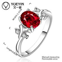 R642 2015 anillos plata mujer 925 sterling silver ring ruby jewelry rings for women aneis bague