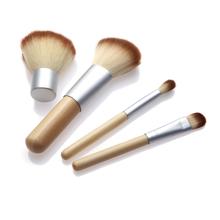 2016 HOT!! 4PCS Natural Bamboo Handle Makeup Brushes Set Cosmetics Tools Kit Powder Blush Brushes(China (Mainland))
