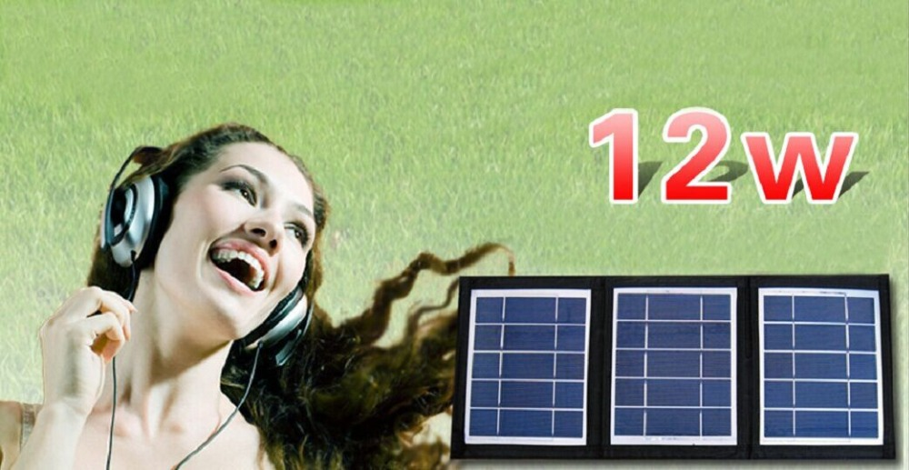 Hot sale Waterproof 12w 5v power bank Polycrystalline solar panel Folded solar cell charger USB for smart phone bluetooth ect(China (Mainland))