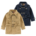 Boys Double Breasted Trench Coat England Style Spring Autumn New Children s Clothing Cotton Kids Fashion