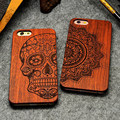 Retro PC Wood Skull Case for iPhone 5 5S iPhone SE Novetly Vintage Case Cover for