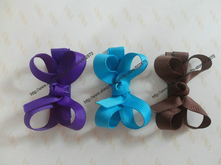 Wholesale Free shipping 150pcs/lot LoveSimple Hair Clips can mix 30 designs Little Bow(China (Mainland))