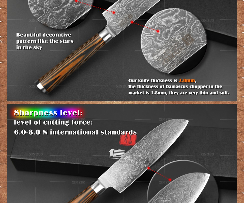 """Buy XINZUO 5""""Japanese chef knife 73 layers VG10 Damascus steel kitchen knife high quality santoku knife wooden handle FREE SHIPPING cheap"""