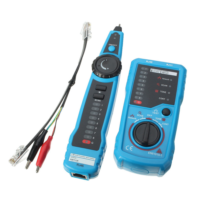 Cat5 Cat6 RJ11 RJ45 Telephone Wire Tracker Tracer Toner Ethernet LAN Network Cable Tester Detector Line Finder Tone Tool Kit(China (Mainland))
