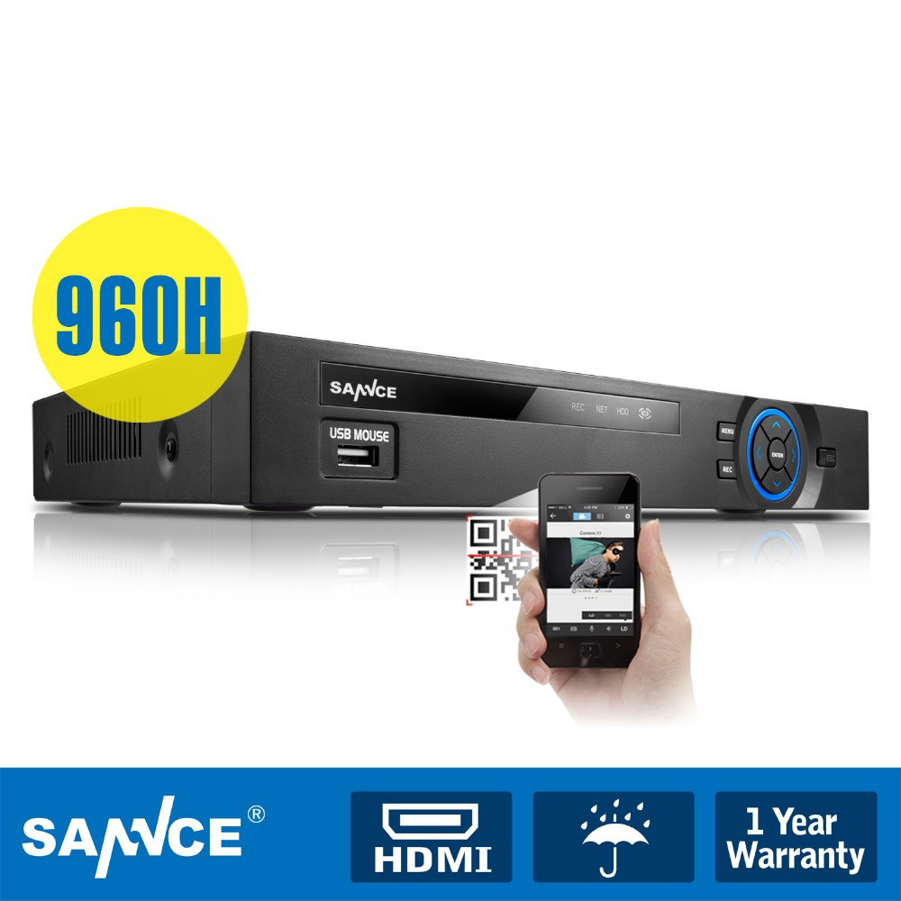 SANNCE 960H 8CH 1080P HDMI Output Security Video Recorder DVR CCTV System Remote(China (Mainland))