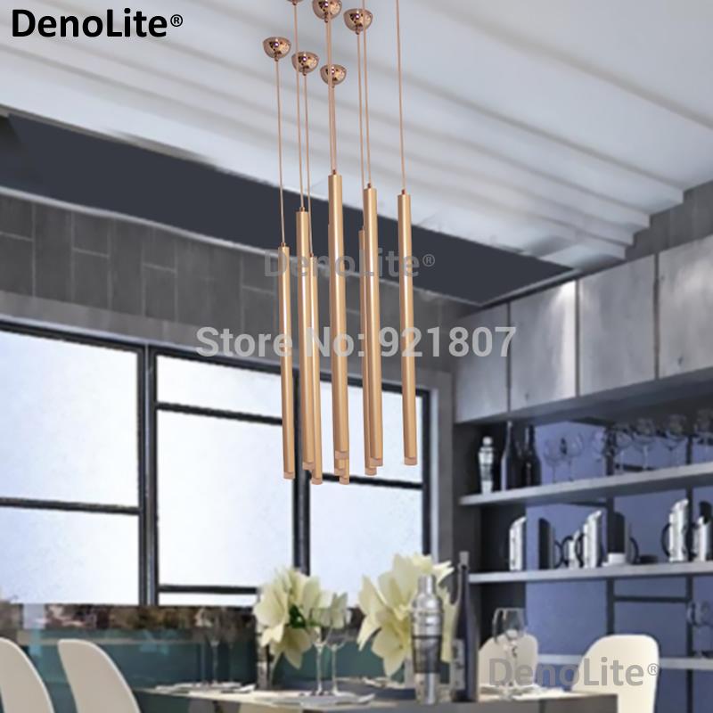 Custom 3W Led Pendant Lights for Restaurant Bedroom Living room 3x30cm Aluminum Bar Interior Decoration Pendant Suspensions Lamp(China (Mainland))