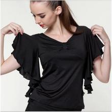 Free Shipping High Quality Women Lady Ruffly Batwing Butterfly Sleeve Flamenco Dresses Top Shirt Flamenco 2014