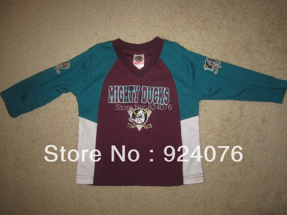 Cheap Vintage ICE Hockey Anaheim Mighty Ducks Toddler 3T Jersey STITCHED, Custom With Any Number, Any Name Sewn On (XXS-6XL)<br><br>Aliexpress