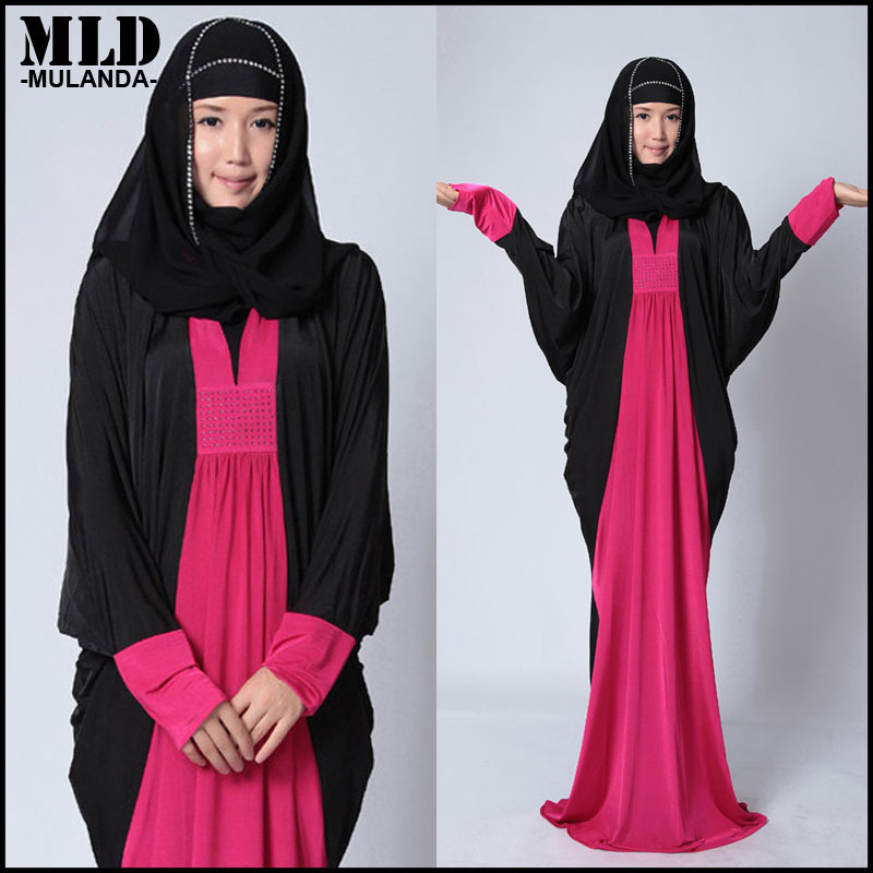 store product  new diamonds decoration women islamic clothing muslim black dubai abaya chiffon ladies robes arabe