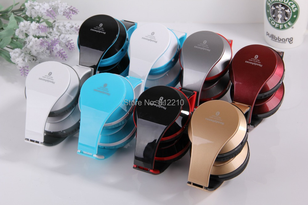 Foldable High Fidelity Surround Sound Noise Canceling Wireless Stereo Bluetooth Headphone Headset With Mic, TF Card