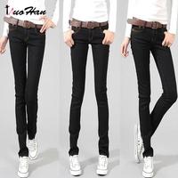 2015 году моды сексуальная карандаш брюки slim fit джинсы штаны женщин осень тощие брюки леди денима джинсы брюки nhad-120