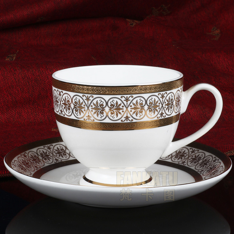 Free shipping, Embossed paper 8245 coffee cup fashion bone china set d'Angleterre flower tea red cup(China (Mainland))