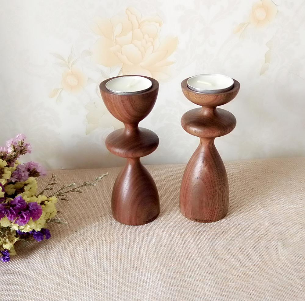 Popular wooden candlestick holders buy cheap wooden for Wooden candlesticks for crafts