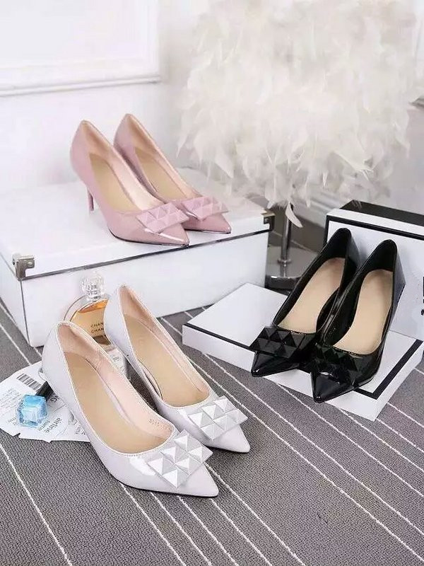 2016 Paris Women Pumps Med Heel 8cm Pointed Toe Dress OL Party Shoes 100% Suede Inside Patent Genuine Leather Luxury CC Brand<br><br>Aliexpress