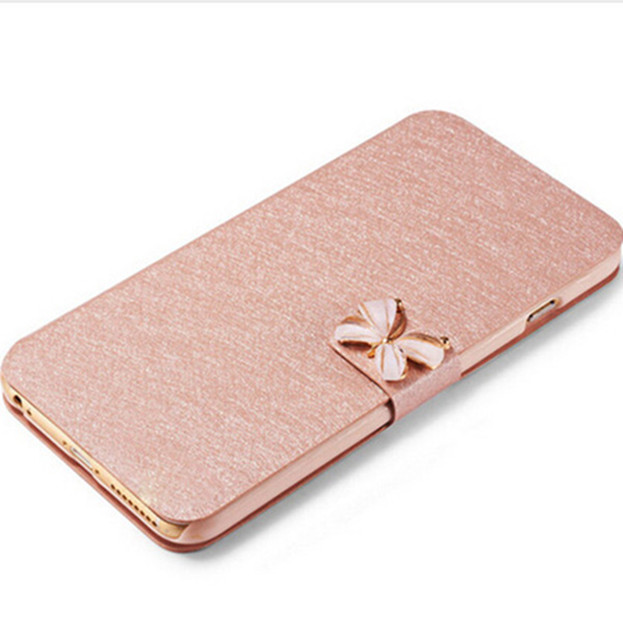 For Microsoft Nokia Lumia 625 Case Luxury Silk Flip Cover Case PU Leather font b Phone